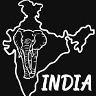 India Country Map And Elephant by lo-qua-t