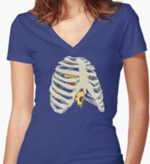 Follow Your Heart Women's Fitted V-Neck T-Shirt