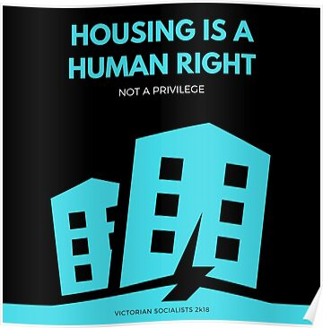 Housing is a Human Right Poster