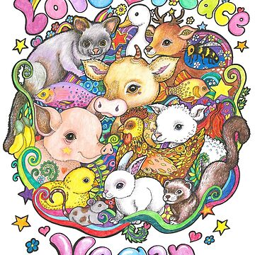 Love, Peace, Vegan by LyndaBell
