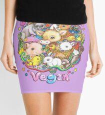 Love, Peace, Vegan Mini Skirt