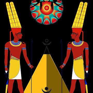 Ancient Egyptian god Amun Amen Ra Kemetic by Rahimseven