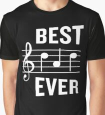 8c2fe8a1 Best Dad Ever Funny Music Note Father's Gift Graphic T-Shirt
