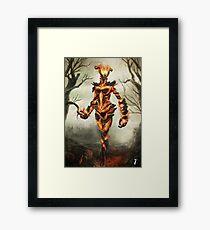 Skyrim Flame Atronach Fan Art Poster Framed Print