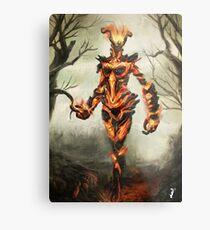 Skyrim Flame Atronach Fan Art Poster Metal Print