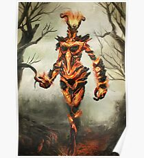 Skyrim Flame Atronach Fan Art Poster Poster