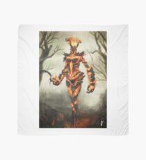 Skyrim Flame Atronach Fan Art Poster Scarf