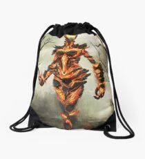 Skyrim Flame Atronach Fan Art Poster Drawstring Bag