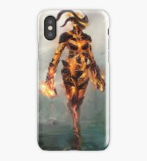 Skyrim Flame Atronach Alternative Fan Art Poster iPhone Case