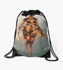 Skyrim Flame Atronach Alternative Fan Art Poster Drawstring Bag