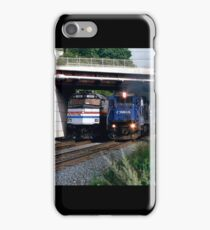 Railroad Locomotives Amtrak Conrail iPhone Case/Skin