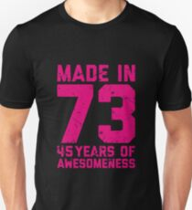 45th Birthday Gift Adult Age 45 Year Old Women Womens Unisex T Shirt
