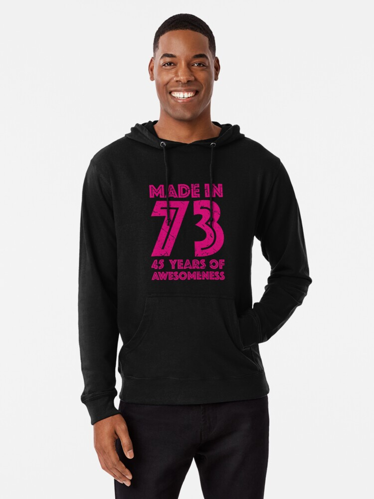 45th Birthday Gift Adult Age 45 Year Old Women Womens Lightweight Hoodie Front
