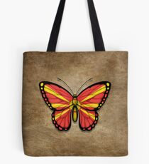 Macedonian Flag Butterfly Tote Bag