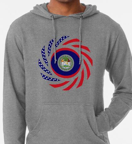 Belizean American Multinational Patriot Flag Series Lightweight Hoodie
