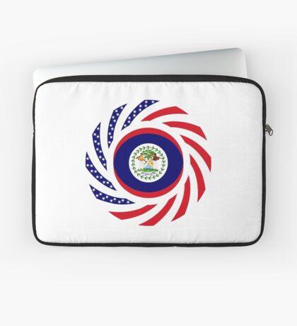Belizean American Multinational Patriot Flag Series Laptop Sleeve