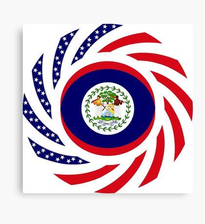Belizean American Multinational Patriot Flag Series Canvas Print