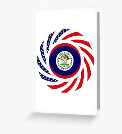 Belizean American Multinational Patriot Flag Series Greeting Card