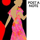 Poster/Note-Board, 'Red Lacquer' Chinese Urn#1, Vintage by luvapples downunder/ Norval Arbogast