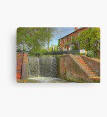 Cottage at Whilton Locks Canvas Print