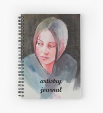 artistry journal for arty thoughts Spiral Notebook