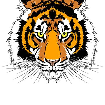 Tigers Head t-Shirt by CrazyWebs