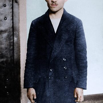 Gavrilo Princip in his prison cell at the Terezín fortress, 1914 by cassowaryprods