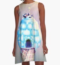 Iglu Geschmack A-Linien Kleid