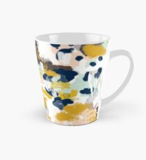 Sloane - Abstract painting in free style navy, mint, gold, white, and turquoise  Tall Mug