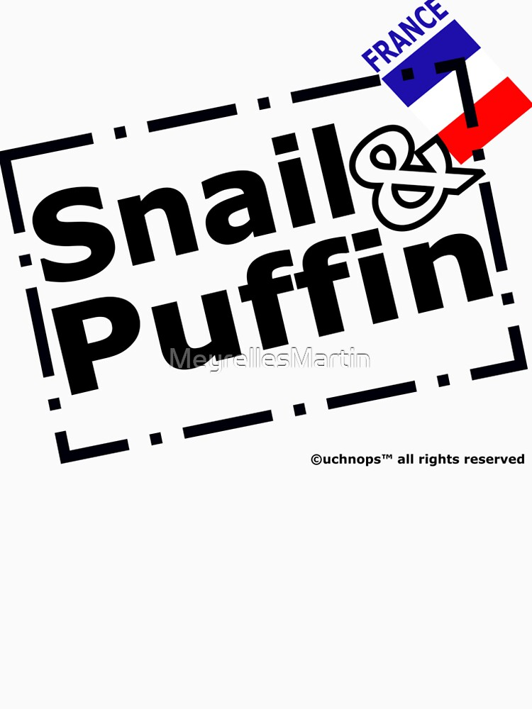 Snail and Puffin French Flag Stamp by MeyrellesMartin