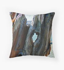 Beach Peephole Throw Pillow