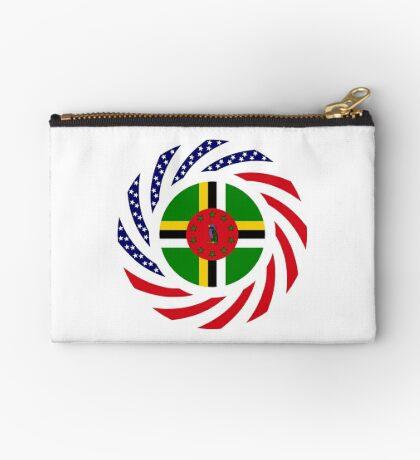 Dominica American Multinational Patriot Flag Series Zipper Pouch