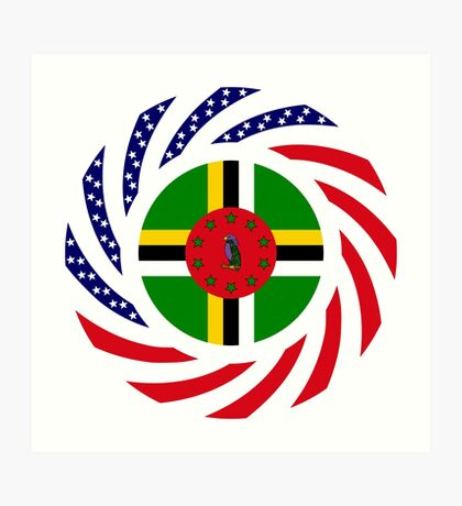 Dominica American Multinational Patriot Flag Series Art Print