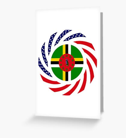 Dominica American Multinational Patriot Flag Series Greeting Card