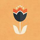 Retro Tulip - Orange and Cream by daisy-beatrice