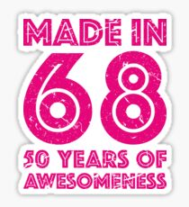50th Birthday Gift Adult Age 50 Year Old Women Womens Sticker