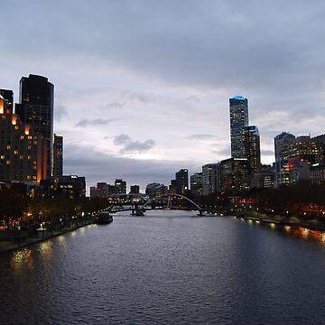 Southbank at dusk by xavier