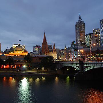 Flinders Street and Fed Square by xavier