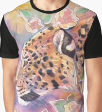 Leopard With Blossom 2 Graphic T-Shirt