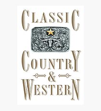 Classic Country & Western (Longhorn Star) Photographic Print