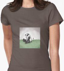 Sadpanda.jpg Women's Fitted T-Shirt