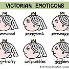 Victorian emoticons by WrongHands