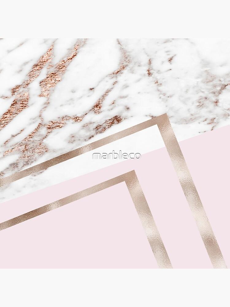 Mármol geométrico - edición luxe rose gold I de marbleco