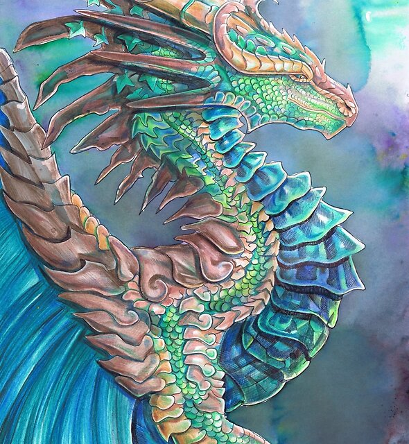Forest River Dragon by Dawn Paws