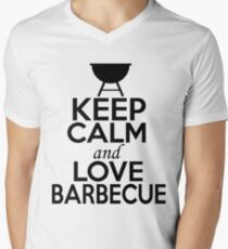 Keep Calm and Love Barbecue Men's V-Neck T-Shirt