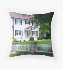 Picket Fence and all.. Throw Pillow