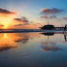 Sunset in Santa Monica Beach, California by Yen Baet