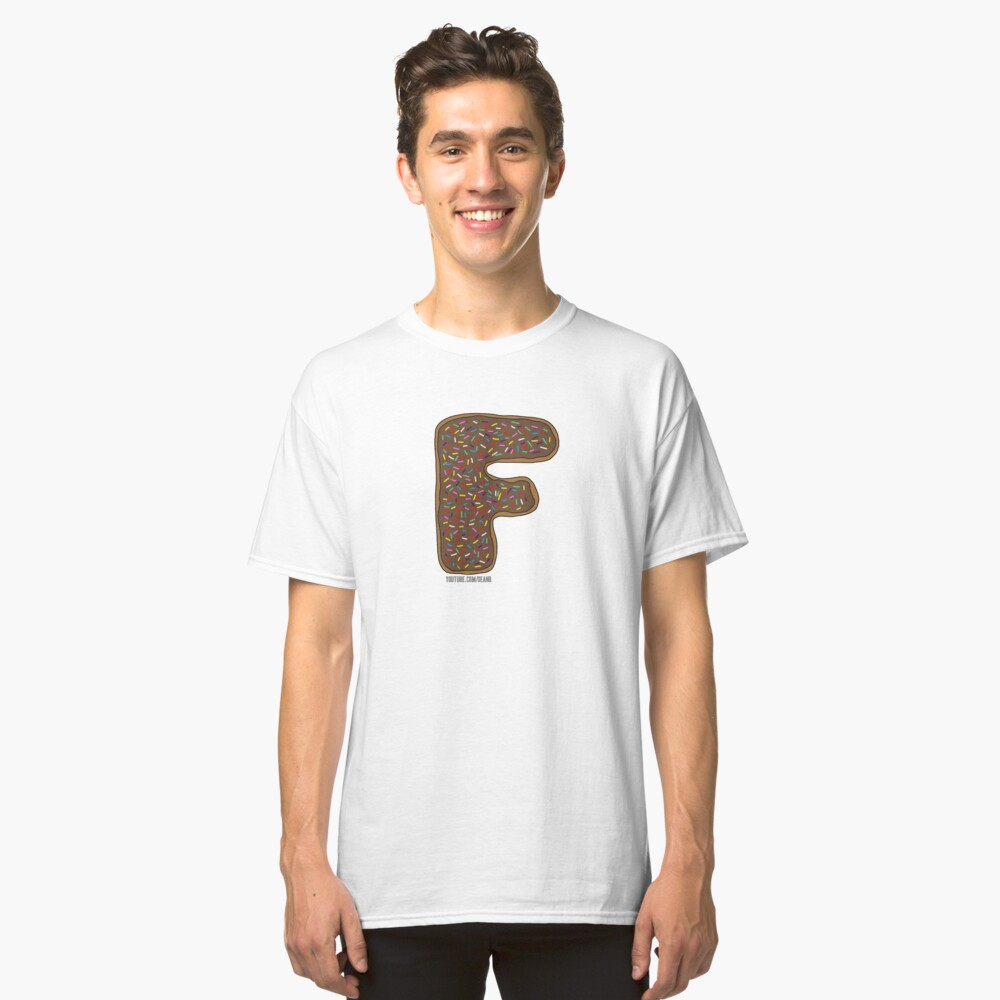 FFFFFFF - F'n Donut Classic T-Shirt Front
