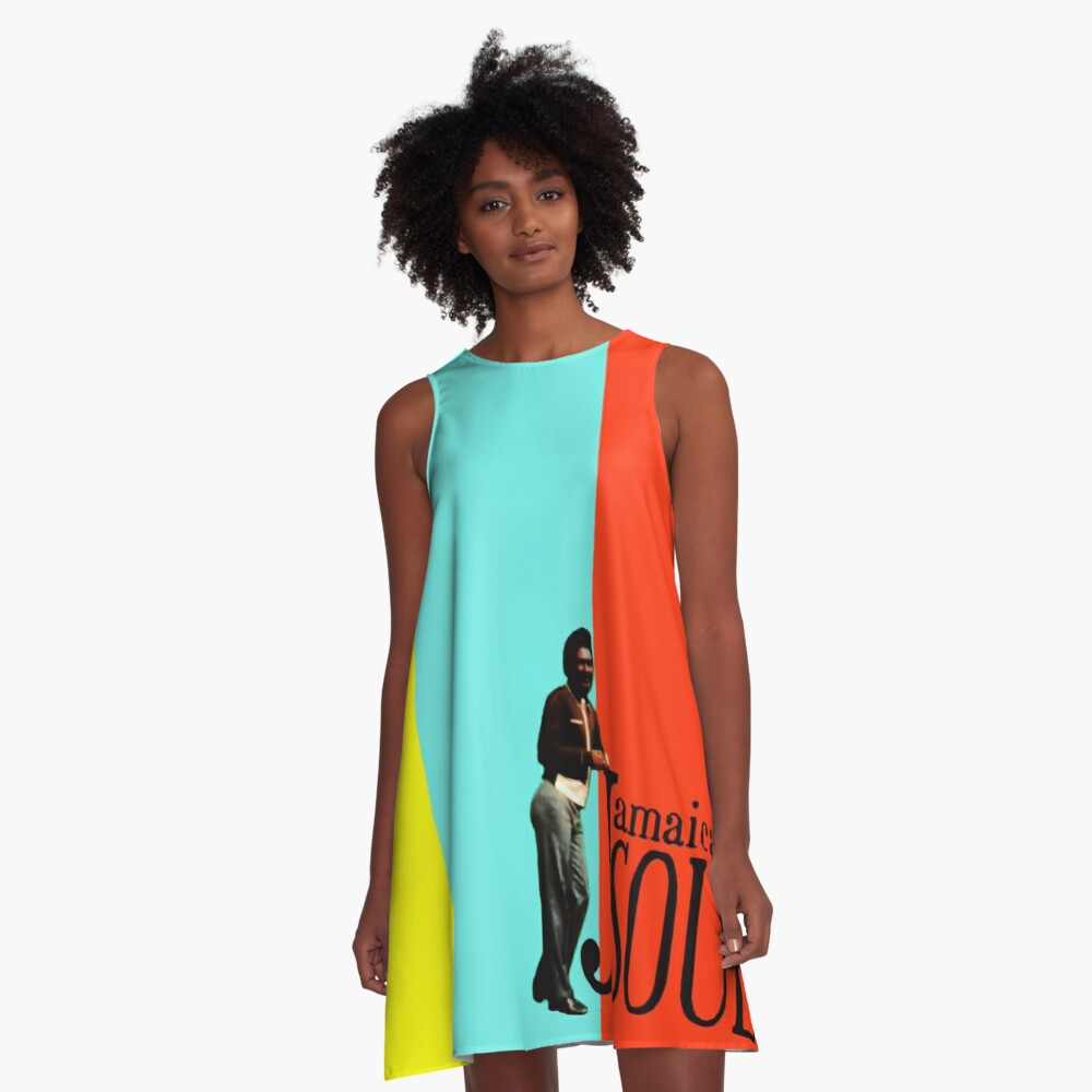 Jamaican Soul Stereo A-Line Dress Front