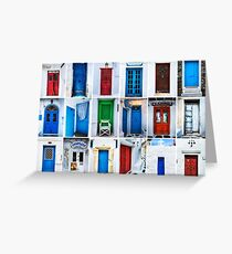 Doors of Greece Greeting Card